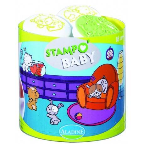 SET CREATIV STAMPO BABY ANIMALE CUNOSCUTE  - ȘTAMPILE 18 LUNI+