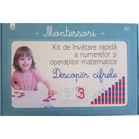 DESCOPĂR CIFRELE - KIT DE ÎNVĂȚARE RAPIDĂ MONTESSORI