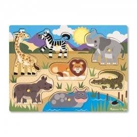 PUZZLE DE LEMN - ANIMALE DIN SAFARI