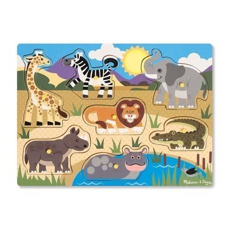 PUZZLE DE LEMN - ANIMALE DIN SAFARI