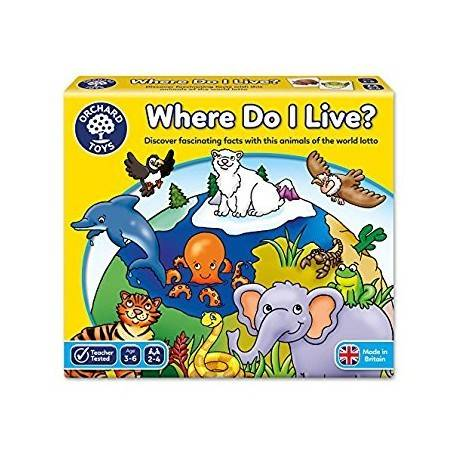 JOC EDUCATIV LOTO HABITATE WHERE DO I LIVE?