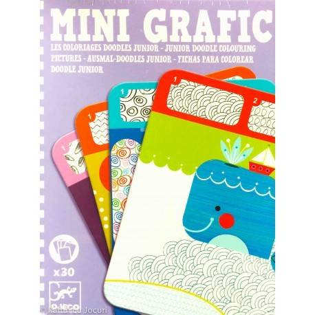 MINIGRAFIC - JUNIOR - DOODLE COLOURING PICTURES