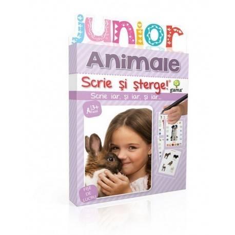 SCRIE ȘI ȘTERGE JUNIOR - ANIMALE