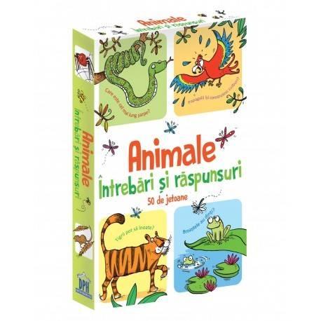 ANIMALE - îNTREBĂRI ȘI RĂSPUNSURI - 50 DE JETOANE