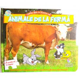 BABY LOONEY TUNES. CARTEA MEA CU PUZZLE-URI, ANIMALE LA FERMĂ.