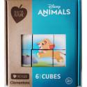 DISNEY ANIMALS - PUZZLE CLEMENTONI 6 CUBURI