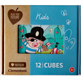 KIDS - PUZZLE CLEMENTONI 12 CUBURI