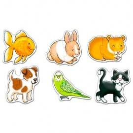 SET 6 PUZZLE - ANIMALE DE COMPANIE