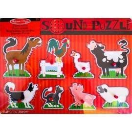 PUZZLE SONOR - ANIMALE DE LA FERMĂ