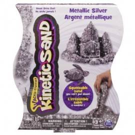KINETIC SAND METALIC ARGINTIU 454G