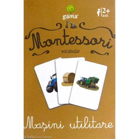 MAȘINI UTILITARE - VOCABULAR MONTESSORI